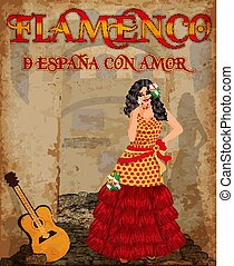 Flamenco.Translation is From Spain with Love. Dancing...