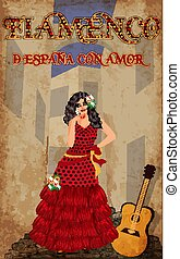 Flamenco.Translation is From Spain with Love. Elegant...