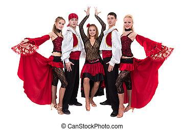 flamenko, χορός , απομονωμένος , χορευτής , φόντο , ζεύγος ζώων , άσπρο