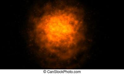 flames burning - burning of orange hot flames