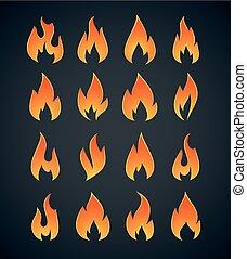 Flames Icons Set