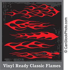 Flames - flames sticker