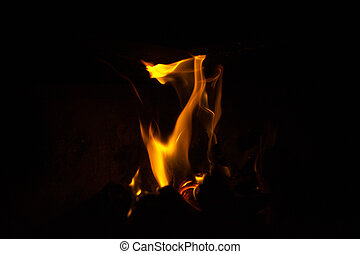 Flames in the dark