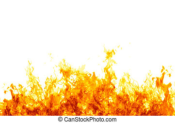 Flames on white - Rendered flames on a white background