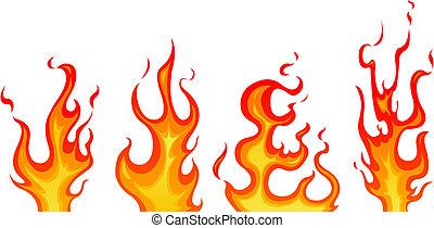 Flames - Set of vector flames