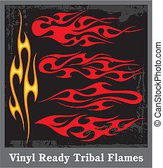 Flames sticker