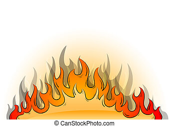 flames - Flames on the white background