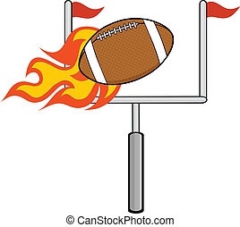 Flaming American Football Ball