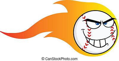 Flaming Angry Baseball Ball