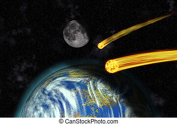 Flaming Asteroids on Earth