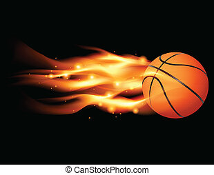Flaming Basketball - An illustration of a flaming basketball...