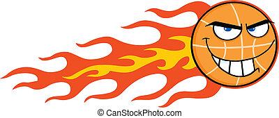 Flaming Basketball Character