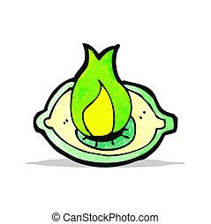 flaming eye symbol cartoon