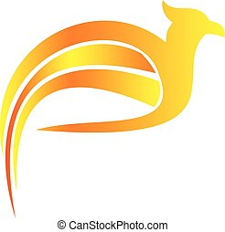 flaming falcon bird logo