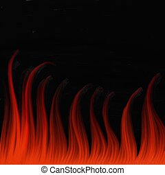textured painted flames on a black canvas background
