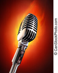 Flaming Hot Event - 50's microphone on fire.