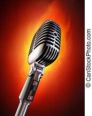 Flaming Hot Event - 50\'s microphone on fire.