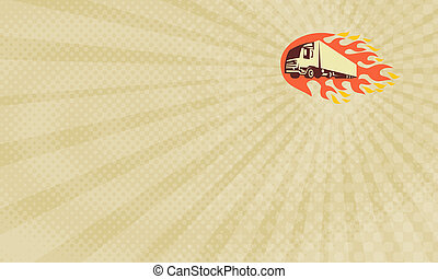 Flaming Hot Transport Business Card