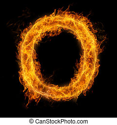 Flaming Letter O
