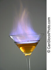 Flaming Martini - Martini in flames