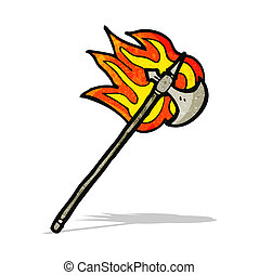 flaming medieval axe