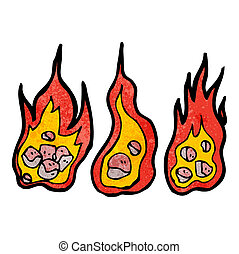 flaming meteor cartoon