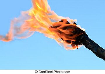 flaming pochodnia