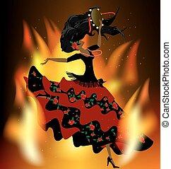 flaming romany dance