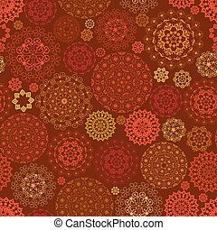flaming seamless texture with graceful mandalas for your design