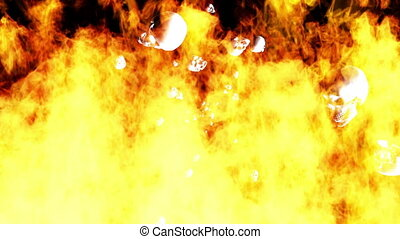 Flaming Skulls Loop