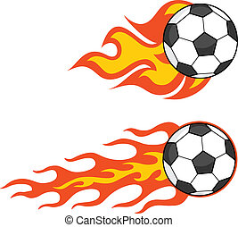 Flaming Soccer Balls  Collection