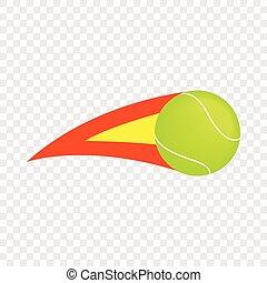 Flaming tennis ball isometric icon