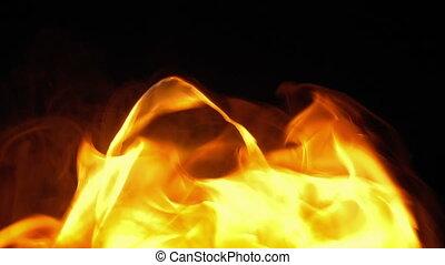 Flaming Torch Close Up Shot
