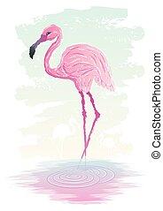 Flamingo - Abstract illustration of flamingo. No ...