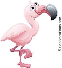 Flamingo Animal Cartoon Character