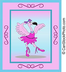 Flamingo Ballerina in Frame