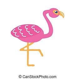 flamingo bird flat style icon
