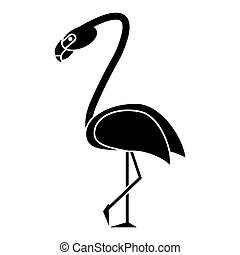 flamingo bird tropical pictogram