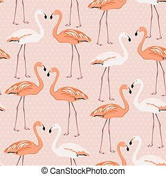 Flamingo birds couple heart love symbol isolated pink for Flamingo beak template