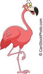 Cartoon flamingo