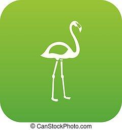 Flamingo icon digital green