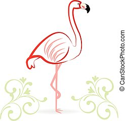 Flamingo icon logo