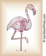 Flamingo - Illustration of abstract design flamingo.