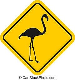 flamingo indication sign