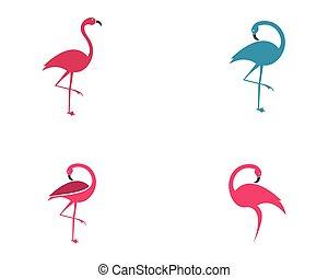Flamingo vector icon