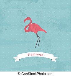 Flamingo vector/illustration