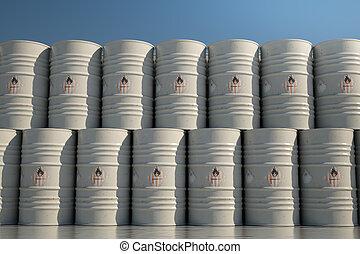 Flammable barrels