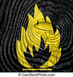 Flammable hazard sign