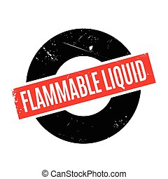 Flammable Liquid rubber stamp