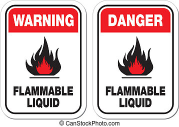 flammable liquid sign - suitable for warning signs
